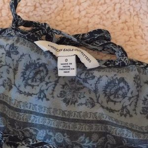American Eagle Outfitters Dresses - Light + dark blue floral American eagle dress